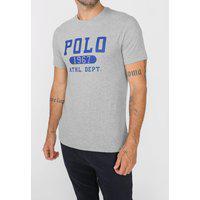 Camiseta Polo Ralph Lauren Logo Cinza