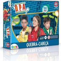 Jogo De Quebra-Cabeça Dpa 100 Pçs - Unissex-Incolor