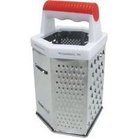 Ralador De Queijo- Inox & Branco- 20X10X8,5Cm- Bbon Gourmet
