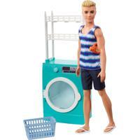 Barbie Ken Playset Lavanderia - Mattel - Kanui