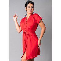Hobby Mvb Modas Roupão Feminino Noiva Sexy Robe Romantic Vermelho