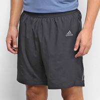 Short Adidas Own The Run Masculino - Masculino-Preto+Branco