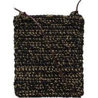 Nicholas Daley Bolsa Tiracolo De Crochê - Preto