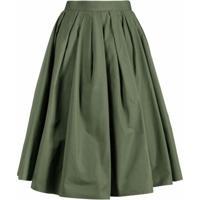 Alexander Mcqueen High-Waisted A-Line Skirt - Verde