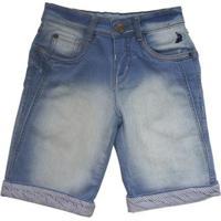 Bermuda Jeans Infantil Squalo Masculino - Masculino-Azul