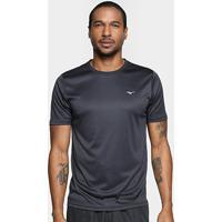 Camiseta Mizuno Run Spark 2 Masculina - Masculino-Preto+Branco