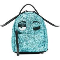 Chiara Ferragni Kids Glitter Detail Backpack - Azul