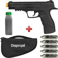 Pistola De Pressão Co2 Daisy 415 4.5Mm + Esferas De Aço Dispropil 4100Un. + 5 Cilindros Co2 + Capa - Unissex
