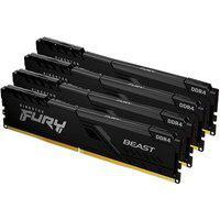 Memória Kingston Fury Beast, 64Gb (4X16Gb), 2666Mhz, Ddr4, Cl16, Preto - Kf426C16Bb1K4/64