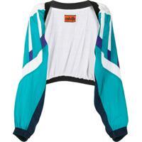 Colville Colour Block Sleeve-Detail Jacket - Azul