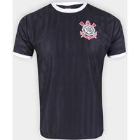 Camisa Corinthians State Masculina - Masculino-Preto