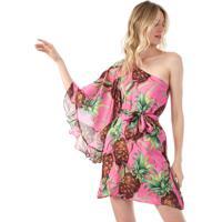 Vestido Lança Perfume Curto Abacaxi Pink