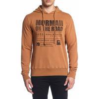 Blusão Mormaii Moletom Estampado - Masculino-Marrom