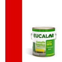 Tinta Esmalte Sintético Brilhante 3,6 Litros Vermelho - Eucalar - Eucatex