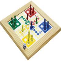 Jogo De Ludo Com Moldura Tabuleiro 31X31 Cm - Fundamental
