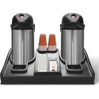Kit Garrafa Térmica Aço Inox Trix 2 Unidades 3,5 Litros E Display De Garrafas - Termopro