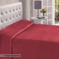 Manta Flanel King Size- Vermelha- 220X240Cm- Buebuettner