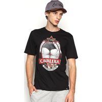 Camiseta Cavalera T Shirt Pilsen Masculina - Masculino-Preto
