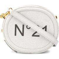 Nº21 Bolsa Transversal Com Estampa De Logo - Prateado