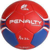 Bola Penalty Handebol H3L Ultra Fusion Vii - Unissex-Vermelho+Azul