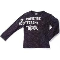 Camiseta Tigor T. Tigre Infantil Masculina - Masculino-Preto