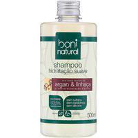 Shampoo Natural Hidratação Boni Natural Suave Argan E Linhaça 500Ml