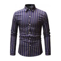 Camisa Social Ml15 Slim Fit - Azul E Amarela