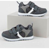 Tênis Infantil Baby Club Com Velcro Cinza