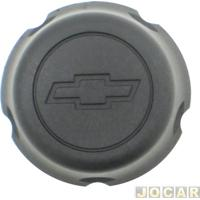 Calota Do Centro Da Roda Chevrolet - Original Chevrolet - S10 1997 Até 2003 - Preta - Cada (Unidade) - 93.246.130