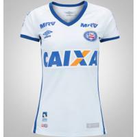 Camisa Do Bahia I 2016 Nº 10 Umbro - Feminina - Branco/Azul
