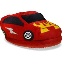 Pantufa Masc Infantil Ferpa 2011 Carro Vermelho
