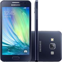 Usado Smartphone Samsung Galaxy A3 Duos A300M Desbloqueado Preto (Muito Bom)