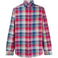 Ralph Lauren Camisa Xadrez Com Botão No Colarinho - Vermelho