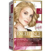 Coloração Imédia Excellence Creme N°8 Louro Claro L'Oréal 47G