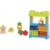 Mega Bloks - Lancheira E Mercado 2 Em 1 - First Builders - Mattel - Unissex-Incolor