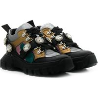 Andrea Montelpare Embellished Low-Top Sneakers - Preto
