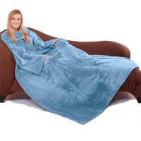 Cobertor Tv Com Mangas Microfibra 1,35X1,70M - Azul