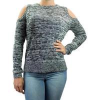 Blusa Feminina Facinelli Tricot - Feminino-Marinho