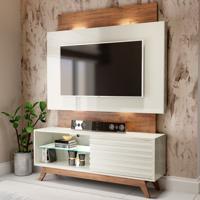 Estante Para Tv Até 65 Polegadas 100% Mdf Tb151L Off White/Nobre - Dalla Costa
