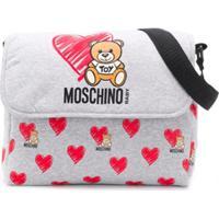 Moschino Kids Bolsa Maternidade Com Logo - Cinza