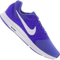 Tênis Nike Downshifter 7 - Masculino - Azul/Branco