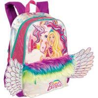 Mochila Grande Barbie Dreamtopia Infantil Sestini - Feminino-Rosa