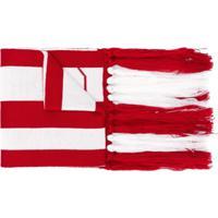Gcds Cachecol Color Block Com Logo - Vermelho