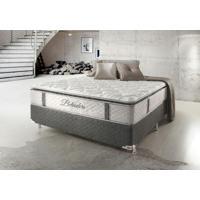 Cama Box Casal Hellen Belvedere Com Mola Ensacada Pillowtop Lateral 74X138X188Cm