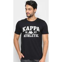 Camiseta Kappa Athletic Masculina - Masculino-Preto
