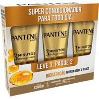 Kit Condicionador Pantene 3 Minutos Milagrosos Hidratação 170Ml 3 Unidades