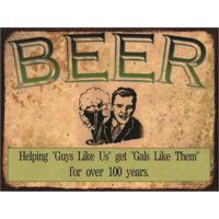 Placa Decorativa Em Mdf Beer Cerveja Antigo Oldschool 30X40 Único