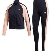 Agasalho Adidas Bomber Legging Feminino - Feminino-Marinho+Coral