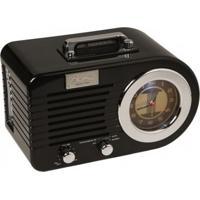 Rádio Relógio Classic Columbia Preto