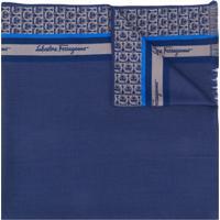 Salvatore Ferragamo Echarpe Com Estampa Gancini - Azul